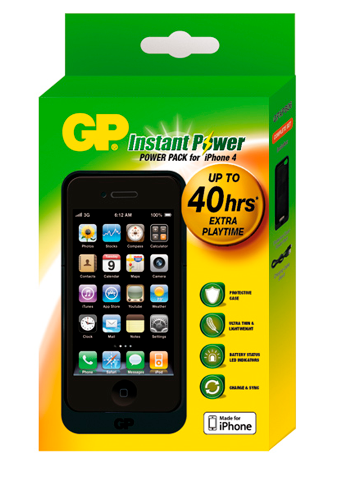 CARGADOR IPHONE 4 – 40 HORAS