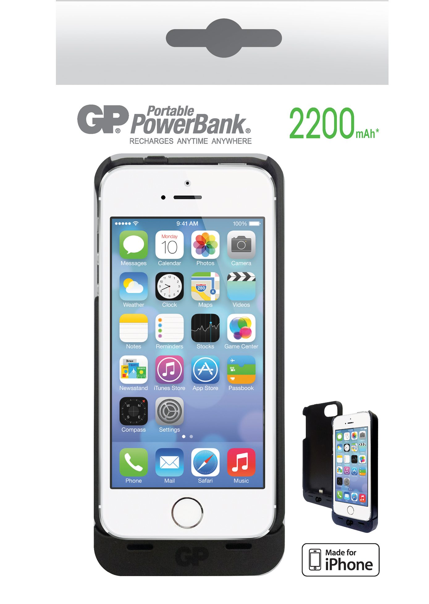 CARGADOR IPHONE 5 2200MAH
